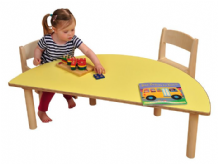 Half Moon Table In Yellow